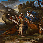 Nicolas Poussin - Venus, Mother of Aeneas, presenting him with Arms forged by Vulcan