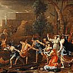 Young Pyrrhus Saved, Nicolas Poussin