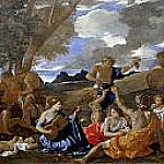 Nicolas Poussin - Bacchanal with the Guitar Player