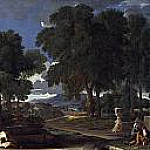 Nicolas Poussin - Landscape with a Man washing his Feet at a Fountain