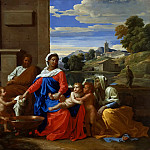 Nicolas Poussin - The Holy Family with the Infant Saint John the Baptist and Saint Elizabeth