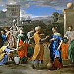 Eleazer and Rebecca at the Well, Nicolas Poussin