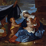 Nicolas Poussin - The Holy Family with the Infant Saint John the Baptist