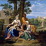 The Holy Family with Saint John and Saint Elizabeth in a landscape, Nicolas Poussin