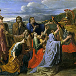 Coriolanus entreated by his wife and his mother, Nicolas Poussin