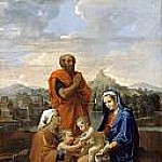 Nicolas Poussin - The Holy Family with Saint John, Saint Elizabeth, and St. Joseph, praying