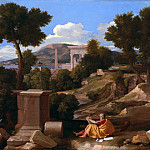 Landscape with saint John on Patmos, Nicolas Poussin