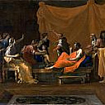The infant Moses trampling Pharoah's crown, Nicolas Poussin