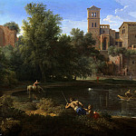 Nicolas Poussin - Landscape with a Pool