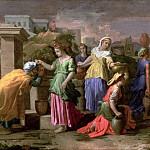 Eliezer and Rebecca at the Well, Nicolas Poussin
