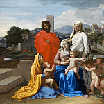 Nicolas Poussin - The Holy Family with Saints Anne, Elizabeth and John the Baptist