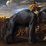 Nicolas Poussin - Hannibal crossing the Alps on an Elephant