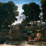 Nicolas Poussin - Landscape with Travellers Resting