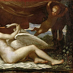 Nicolas Poussin - Leda and the Swan (attr.)