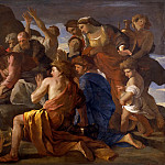 Nicolas Poussin - Moses Sweetening the Waters of Marah