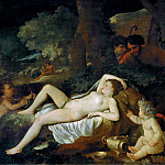 Sleeping Venus and the Shepherds, Nicolas Poussin