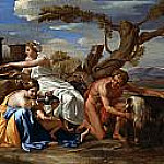 Nicolas Poussin - Jupiter nourished as a child The Goat Amalthea
