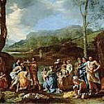 Saint John Baptizing in the River Jordan, Nicolas Poussin