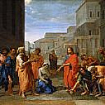 Christ and the Adulteress, Nicolas Poussin