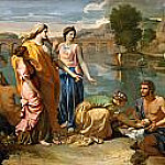 Moses Saved from the Waters of the Nile, Nicolas Poussin