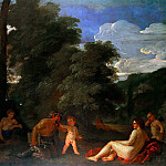 Nicolas Poussin - Nymphs and a Satyr