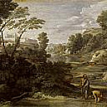 Nicolas Poussin - Landscape with Diogenes Renouncing His Bowl