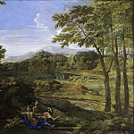 Landscape with two nymphs, Nicolas Poussin