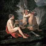 Nicolas Poussin - Satyr and Nymph