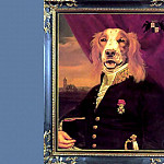 Thierry Poncelet - dog portraits commodore sir giles mallard stalker