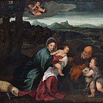 Johan Rohde - The Holy Family with the Infant St John [After]
