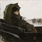Lady in a Landau. Motif from Paris, Georg Pauli