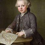 Antoine Pesne - Boy with Map of Scandinavia