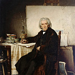 Hans von Marees - Portrait of the Painter Ludwig Richter