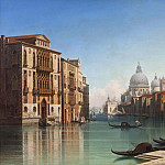 Gustaf Wilhelm Palm - View of Canal Grande in Venice