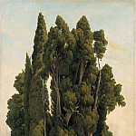 Olof Sager-Nelson - Cypresses. Study