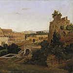 View of Rome with the Colosseum. Study, Gustaf Wilhelm Palm