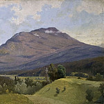 Gustaf Wilhelm Palm - Summer Landscape with Mountain