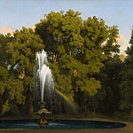 In the Park, Frascati. Study, Gustaf Wilhelm Palm