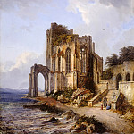 Karl Kuntz - Ruins of a Gothic Church on the Shore