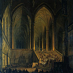 Carl Blechen - Procession in the monastery church to Kaisheim on the Danube