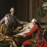 Alexander Roslin - King Gustav III of Sweden and his Brothers