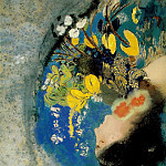 Odilon Redon - Redon Ophelia, c. 1900-05 Pastel on paper mounted on board,