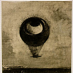 Odilon Redon - Redon Eye-Balloon, 1878, Charcoal, 42.5x33.2 cm, The Museum