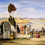 Karl Friedrich Schinkel - Rebecca and Eliezer at the Well