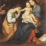 Jusepe de Ribera - Ribera_The_Holy_Family_with_St_Catherine