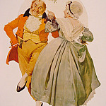 Norman Rockwell - Merry Christmas Couple Dancing
