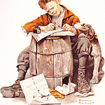 Норман Роквелл - Little_Boy_Writing_a_Letter