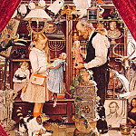 Norman Rockwell - April_Fool_Girl_with_Shopkeeper