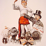 Norman Rockwell - The_Circus-Barker