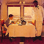 Norman Rockwell - Boy_in_A_dining_Car